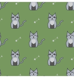 Gray cute cartoon cat backgrouns vector
