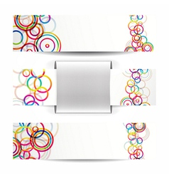 Abstract circles web banners vector image vector image