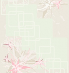 background flower vintage vector image
