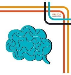 brain storm design vector image vector image