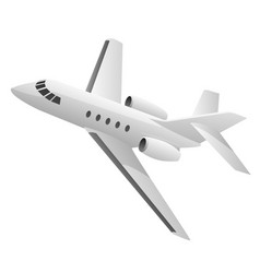 Business jet airplane vector