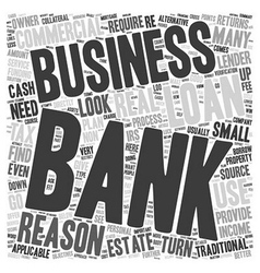 Business loans reasons not to use a bank text vector