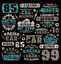 Car repair typographic elements vector