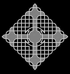 Celtic square cross vector