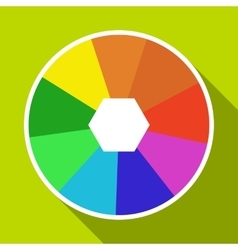 Color wheel icon flat style vector image