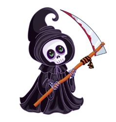 Death with a scythe in his hands on white vector image