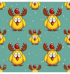 Funny chicken winter pattern vector