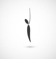 Hang oneself icon vector