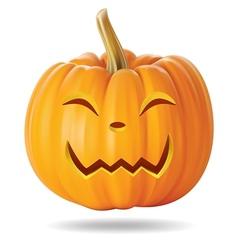 happy pumpkin vector image vector image