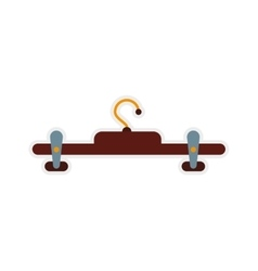 hook of wood icon Hanger object design vector image