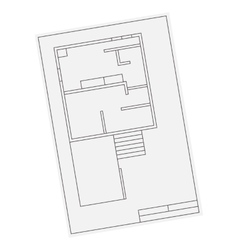House floor plan icon for ui or app vector