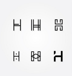 Initial letter h logo typo pack vector