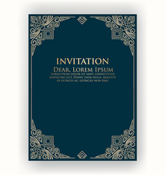 invitation cards with ethnic arabesque elements vector image vector image