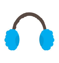 Isolated winter headphones vector