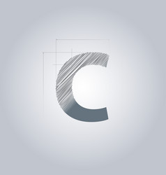 Letter c logo alphabet logotype architectural vector