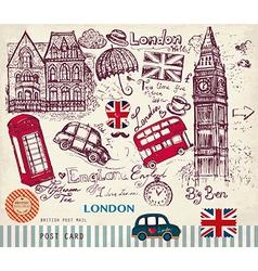 London postcard vector