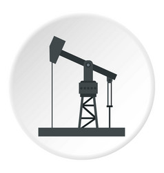 Oil industry equipment icon circle vector