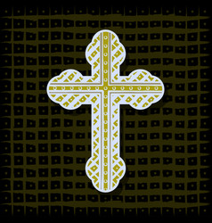Orthodox cross - background vector