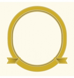 oval frame vector image