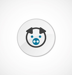 Pig icon 2 colored vector