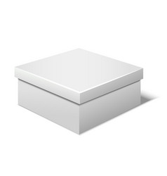 Realistic template blank white box vector