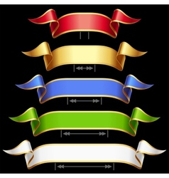ribbon set with adjusting length vector image vector image