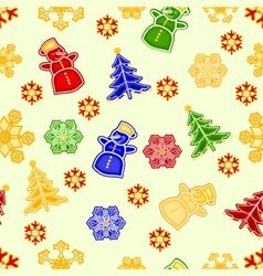 Seamless texture snowman and snowflake vector