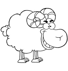 Sheep with horns vector image vector image