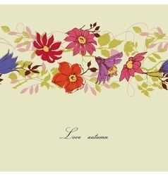 Floral pattern autumn colors vector image