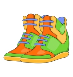 Womens autumn sneakers icon cartoon style vector