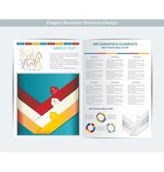 elegant business brochure design vector image