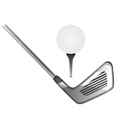 Golf equipment vector