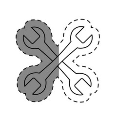 Wrench key tool icon vector