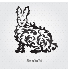 Decorative rabbit vector