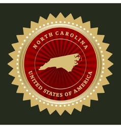 Star label North Carolina vector image