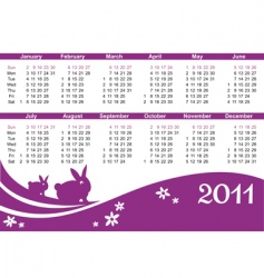 rabbit calendar vector image