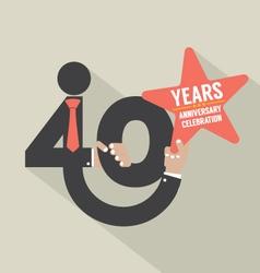 40 years anniversary typography design illu vector