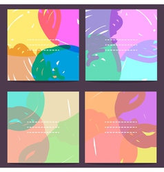 Set of universal cards hand drawn eps 10 vector