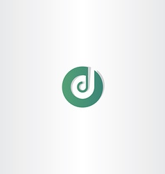 Dark green letter d logotype icon element vector