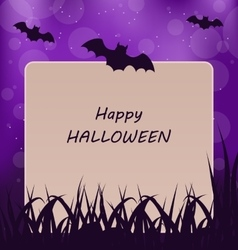 Halloween greeting card dark background vector