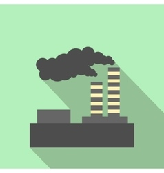 Factory pollution flat icon vector