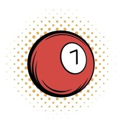 Billiard ball comics icon vector
