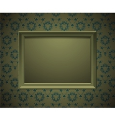 Wall with picture frame vector