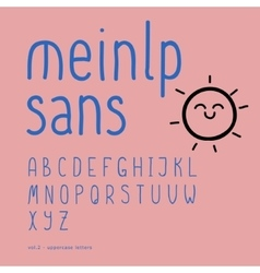 Cute hand-drawn font part 2 - uppercase vector