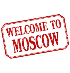 Moscow - welcome red vintage isolated label vector