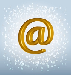 golden email vector image