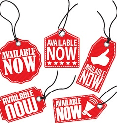 Available now red tag set vector image