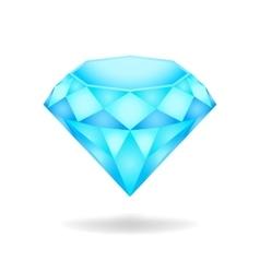 Blue diamond eps10 vector image vector image