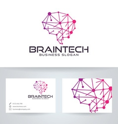 Brain Tech vector image