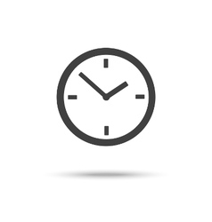 Clock icon sign symbol isolated vector